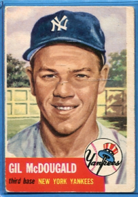1953 Topps #43 Gil McDougald front image