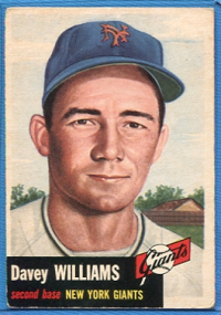 1953 Topps #120 Davey Williams front image