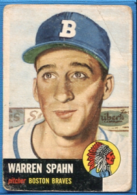 1953 Topps #147 Warren Spahn front image