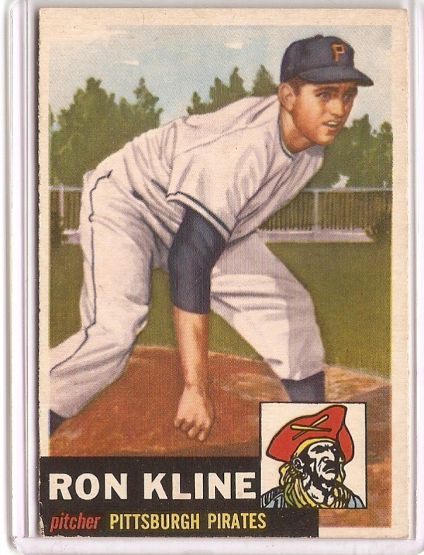1953 Topps #175 Ron Kline RC
