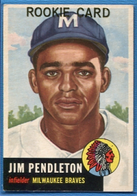 1953 Topps #185 Jim Pendleton RC back image