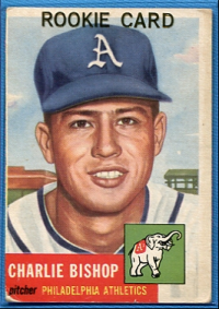1953 Topps #186 Charlie Bishop RC front image