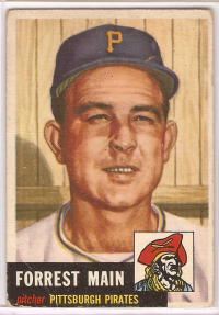 1953 Topps #198 Forrest Main front image