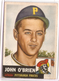 1953 Topps #223 Johnny O'Brien DP RC front image