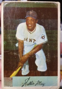 1954 Bowman #89 Willie Mays front image