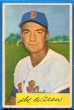 1954 Bowman #178 Del Wilber