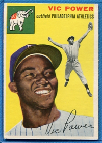 1954 Topps #52 Vic Power RC front image