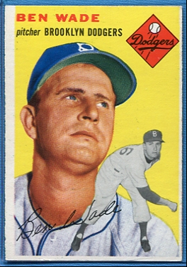 1954 Topps #126 Ben Wade