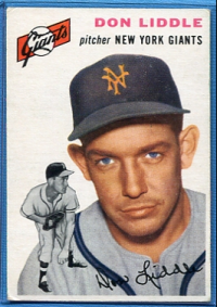 1954 Topps #225 Don Liddle RC front image