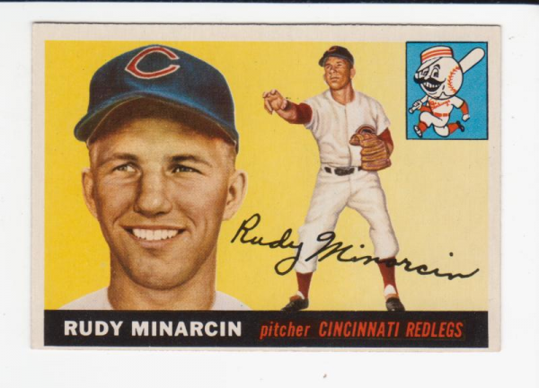1955 Topps #174 Rudy Minarcin RC