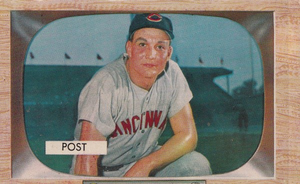 1955 Bowman #32 Wally Post