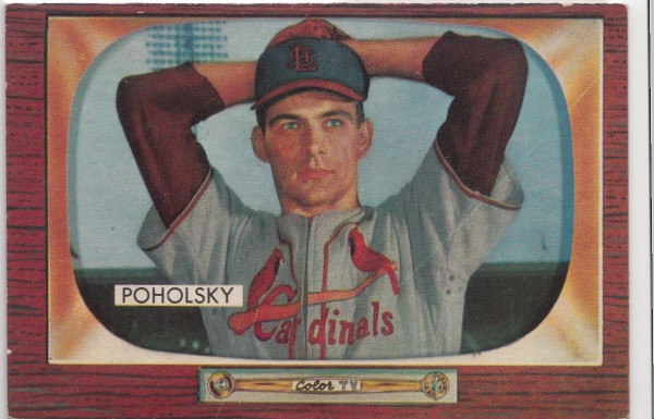 1955 Bowman #76 Tom Poholsky