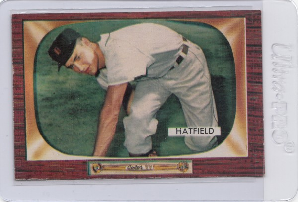 1955 Bowman #187 Fred Hatfield