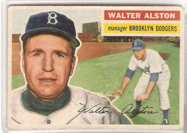 1956 Topps #8A Walter Alston MG GB