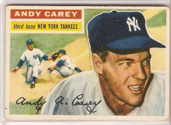 1956 Topps #12A Andy Carey GB