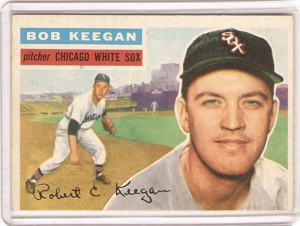 1956 Topps #54A Bob Keegan GB