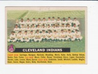 1956 Topps #85A Cleveland Indians TC (No Date Name Centered) front image