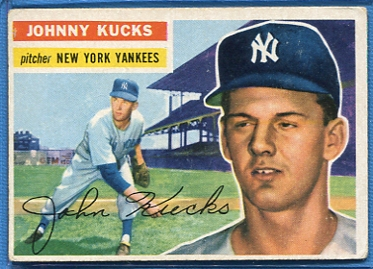 1956 Topps #88 Johnny Kucks RC