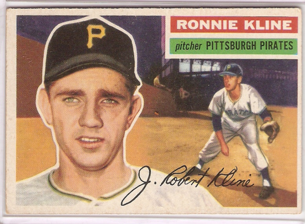 1956 Topps #94A Ron Kline GB