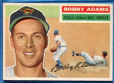 1956 Topps #287 Bobby Adams