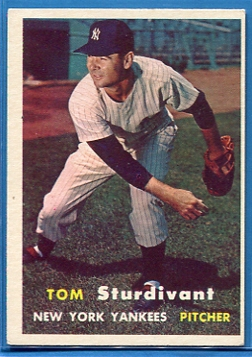 1957 Topps #34 Tom Sturdivant RC