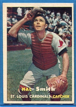 1957 Topps #111 Hal R. Smith