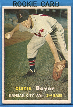 1957 Topps #121 Clete Boyer RC