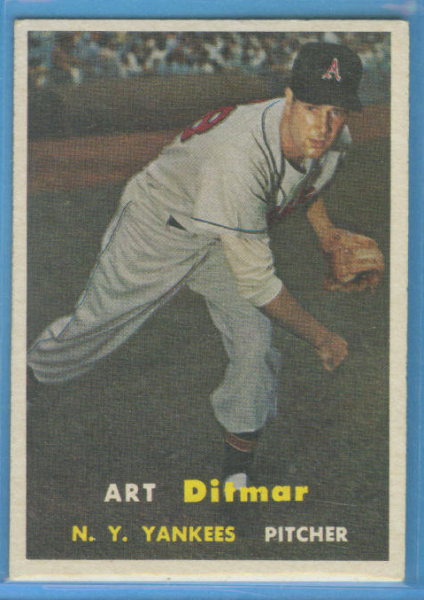 1957 Topps #132 Art Ditmar