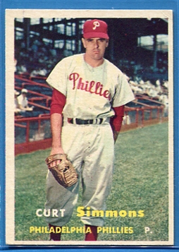 1957 Topps #158 Curt Simmons