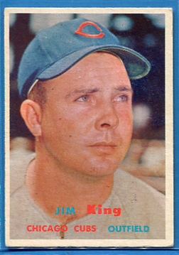 1957 Topps #186 Jim King