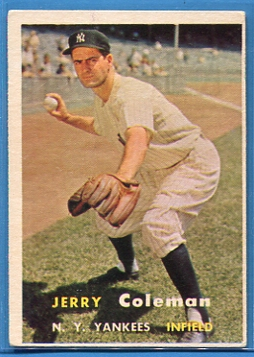 1957 Topps #192 Jerry Coleman