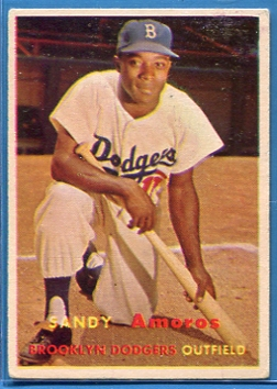 1957 Topps #201 Sandy Amoros
