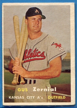 1957 Topps #253 Gus Zernial