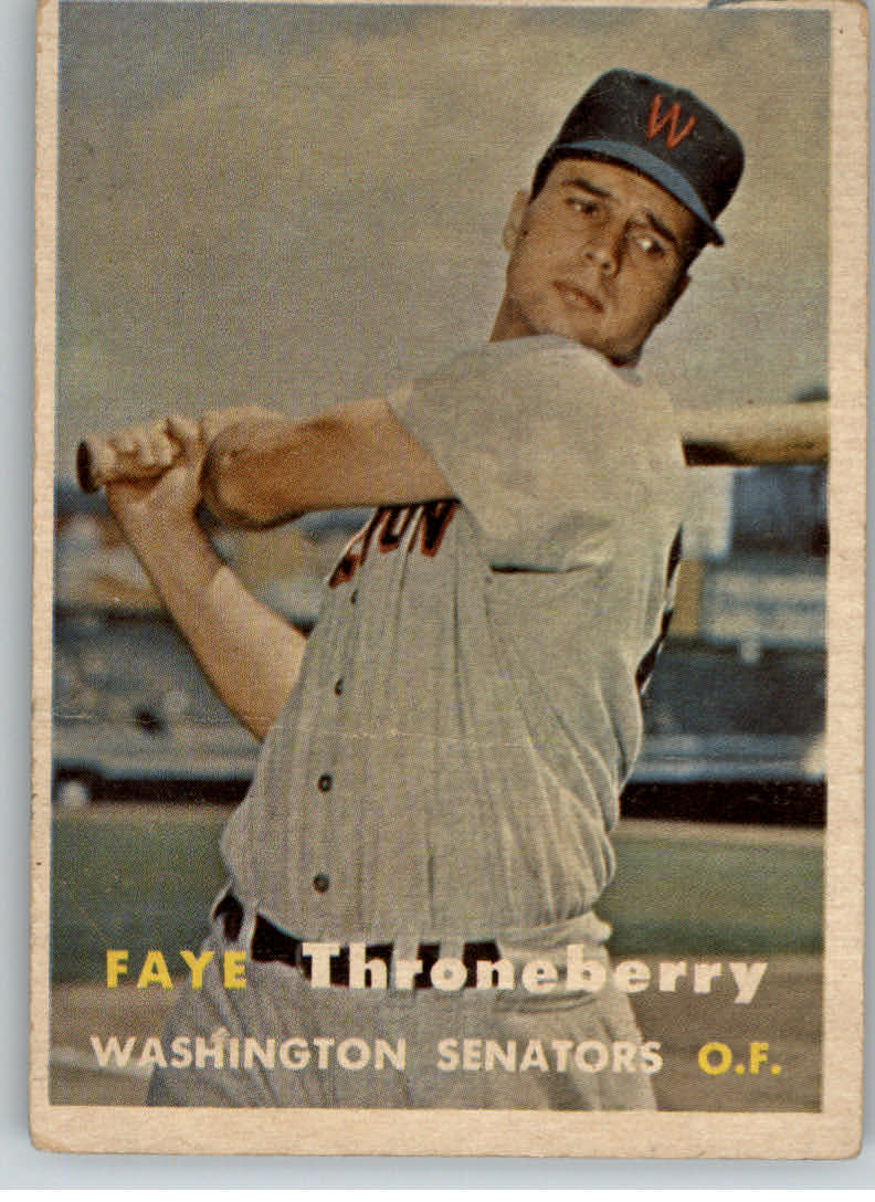 1957 Topps #356 Faye Throneberry