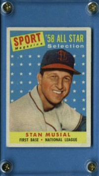 1958 Topps #476 Stan Musial AS TP front image