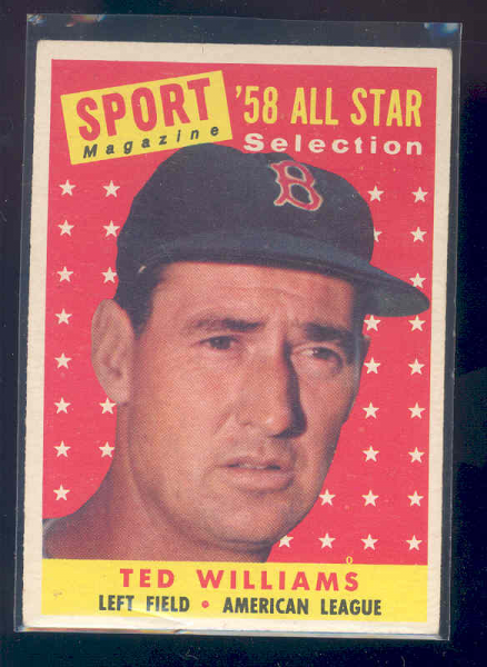 1958 Topps #485 Ted Williams AS