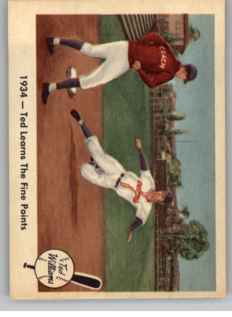 1959 Fleer Ted Williams #4 Learns Fine Points