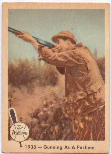1959 Fleer Ted Williams #10 Gunning as Pastime