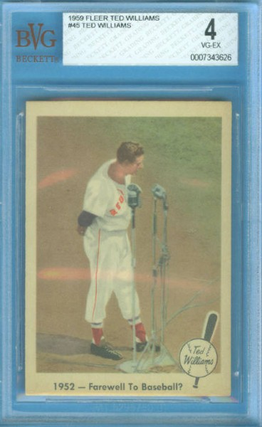 1959 Fleer Ted Williams #45 Farewell to Baseball