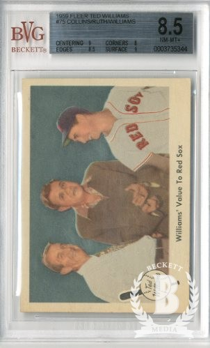 1959 Fleer Ted Williams #75 Williams' Value to Sox