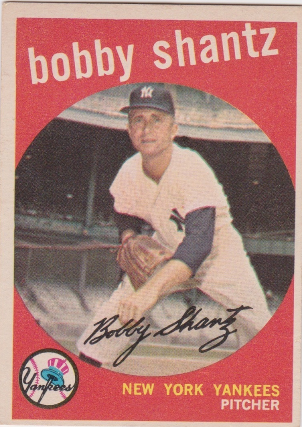 1959 Topps #222A Bobby Shantz GB