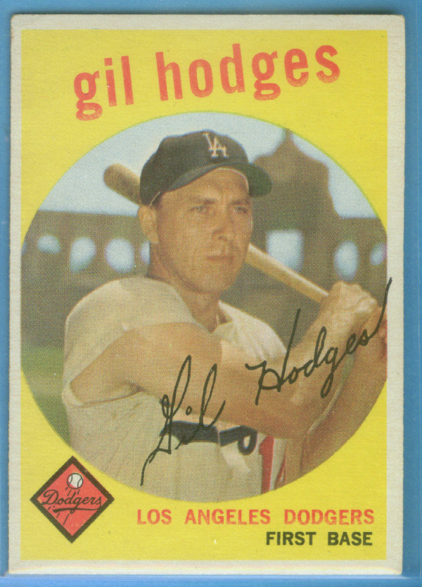 1959 Topps #270A Gil Hodges GB