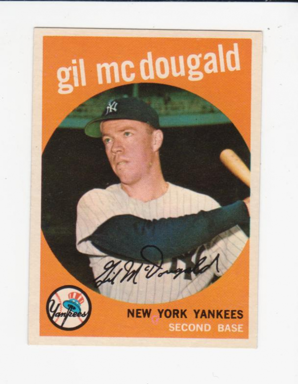 1959 Topps #345 Gil McDougald