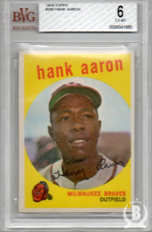 1959 Topps #380 Hank Aaron