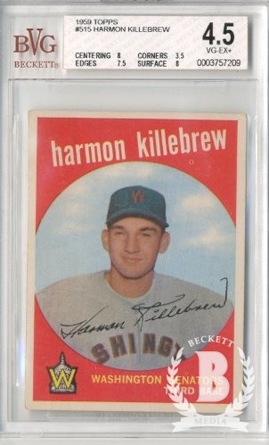 1959 Topps #515 Harmon Killebrew