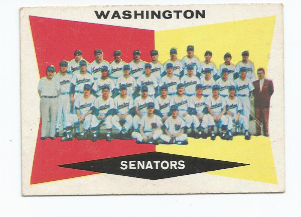 1960 Topps #43 Washington Senators CL