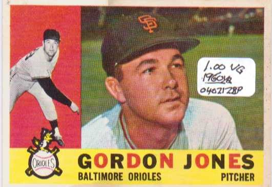 1960 Topps #98 Gordon Jones