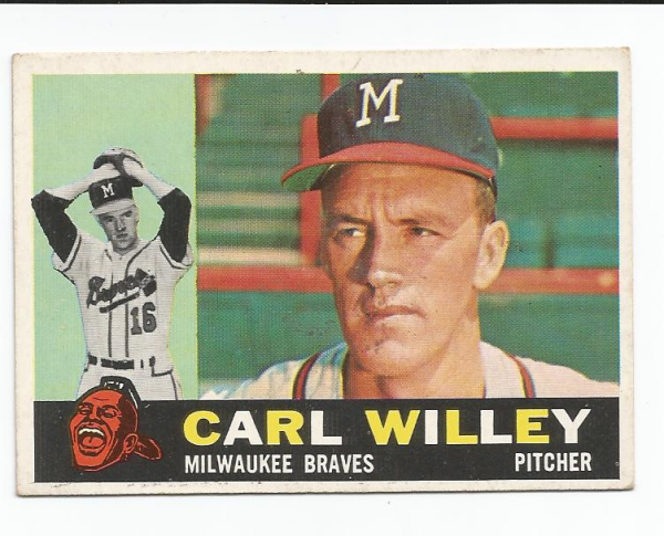 1960 Topps #107 Carlton Willey