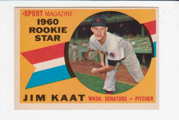 1960 Topps #136 Jim Kaat RS RC