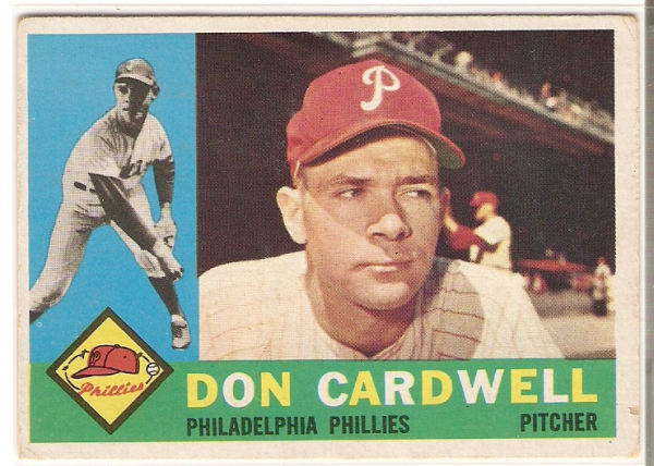 1960 Topps #384A Don Cardwell WB